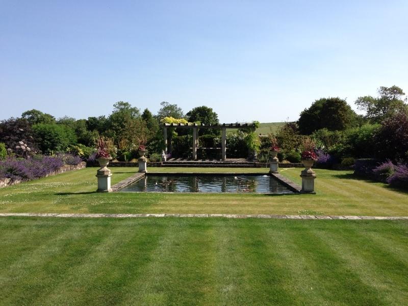 formal garden pond