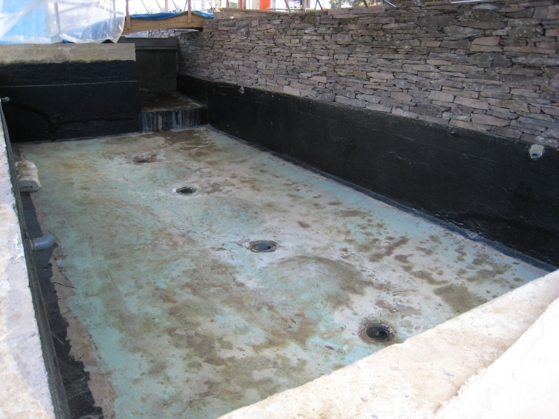 Pond during construction